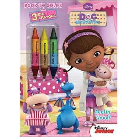 Disney Doc Mcstuffins Coloring Book with 3 Jumbo Crayons thumb