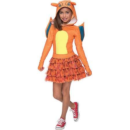 Kids Hooded Charizard Dress Costume - Pokemon thumb