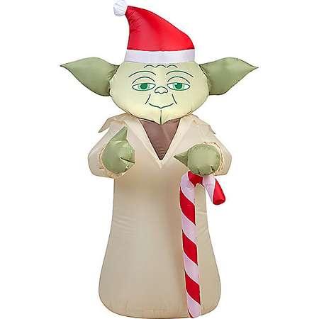 3.5 Ft Festive Yoda Inflatable Decoration - Star Wars thumb