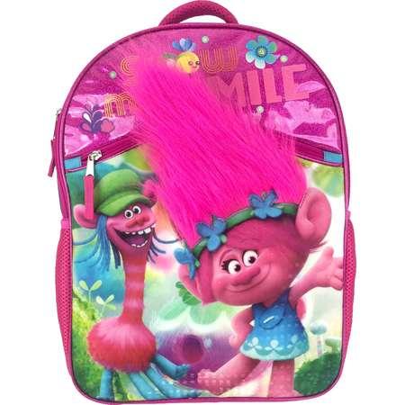 DreamWorks Trolls Large Hair Kids' Backpack - (Pink) thumb