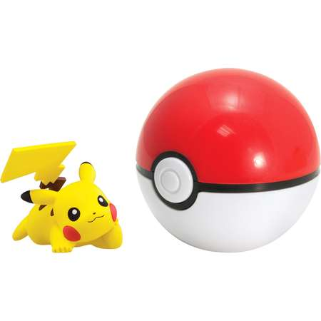 Pokemon Clip 'N' Carry Poke Ball with Figure Pikachu (Pose L) and Poké Ball thumb