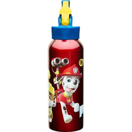PAW Patrol 25oz Stainless Steel Kids' Water Bottle with Straw Lid - Red thumb