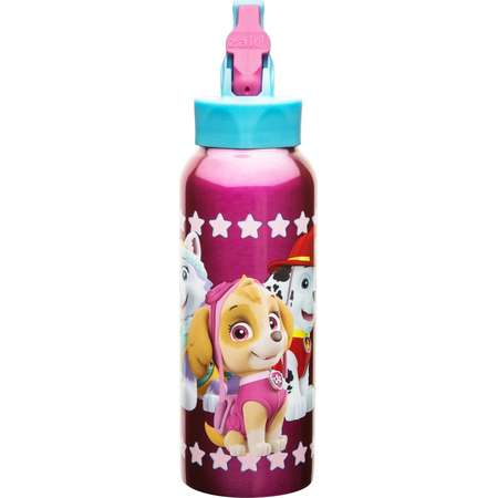 PAW Patrol 25oz Stainless Steel Kids' Water Bottle with Straw Lid - Pink thumb