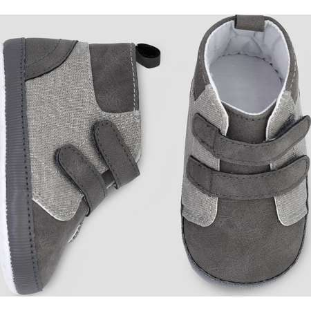 Baby Boys' High Top Sneaker - Just One You® made by carter's Gray 3-6M thumb