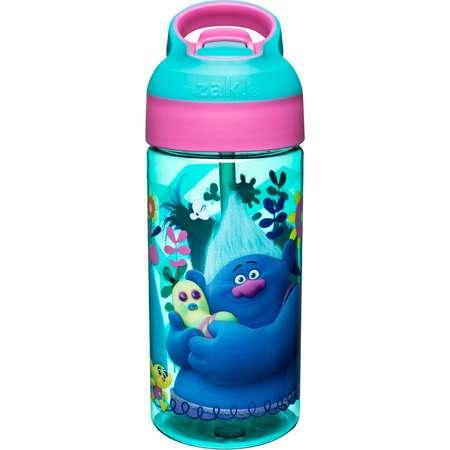 Trolls Zak Designs Plastic Water Bottle 17.5oz - Blue/Pink thumb