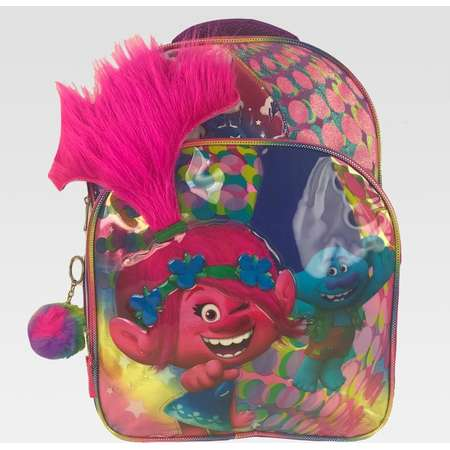 "Trolls 16"" Kids' Backpack with Light Up Hair and Pom-Pom - Rainbow thumb"