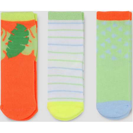 Toddler Girls' 3pk Crew Socks - Cat & Jack™ Multicolored thumb