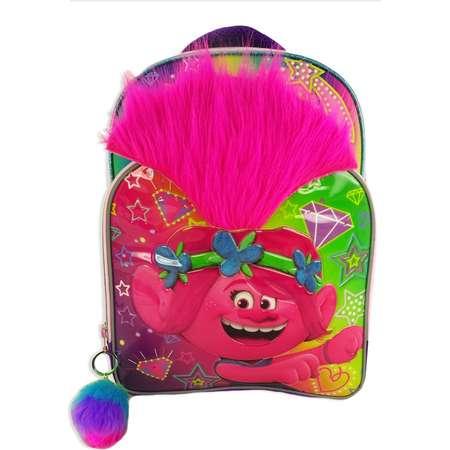 "Trolls 16"" Kids' Backpack with Pom Pom - Rainbow thumb"