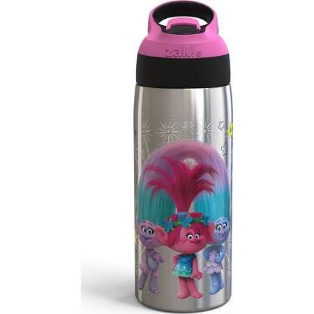 Trolls 19oz Stainless Steel Water Bottle Pink/Black - Zak Designs thumb
