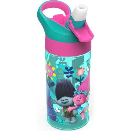 Trolls 17.5oz Plastic Water Bottle Blue/Pink - Zak Designs thumb