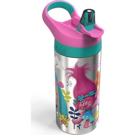 Trolls 19.5oz Stainless Steel Water Bottle Pink/Blue - Zak Designs thumb