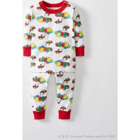 e39236d63e Curious George® Long John Pajamas In Organic Cotton thumb