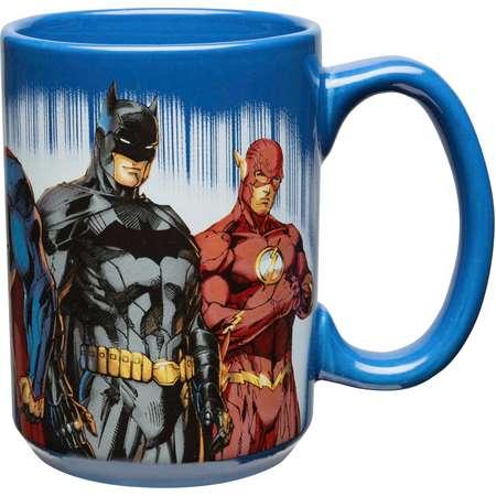 DC Comics Large Coffee Mug - Green Lantern, Wonder Woman, Batman & The Flash thumb