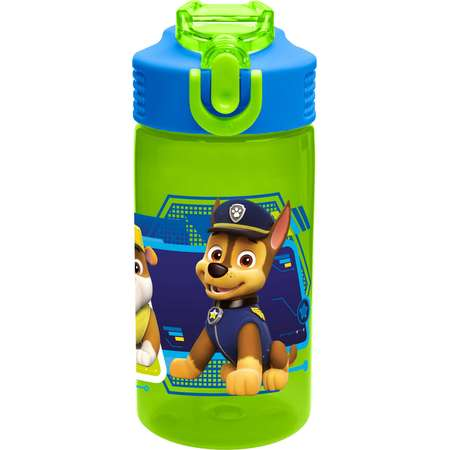Paw Patrol BPA Free Water Bottle for Kids - Rocky, Rubble & Chase thumb