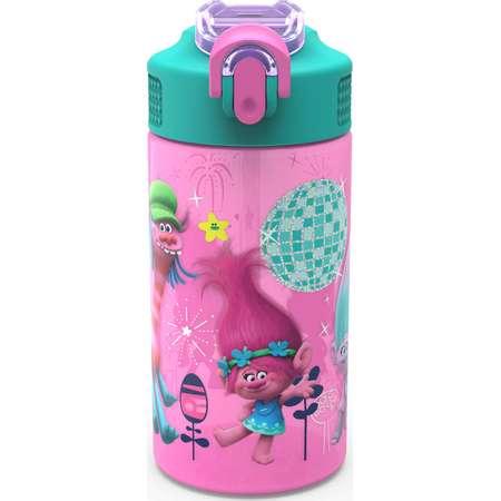 Trolls Water Bottle with Straw - Poppy & Friends thumb