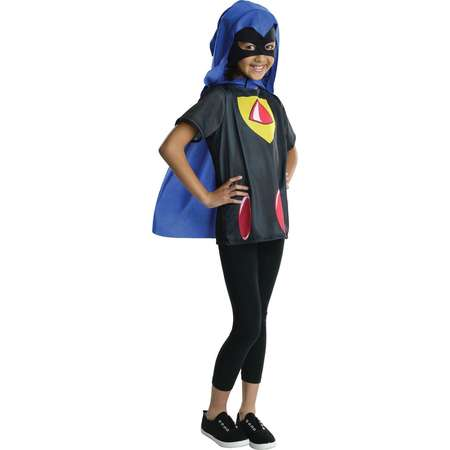Go Teen Titans Go Raven Costume Top for Girls thumb