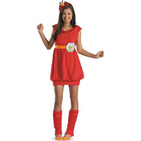 Girls Sesame Street Elmo Costume thumb