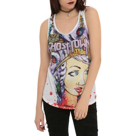 Ghost Town Off With Her Head Sublimation Girls Tank Top thumb