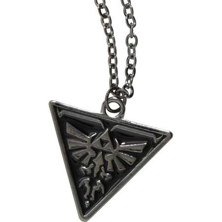 The Legend Of Zelda Triforce Enamel Necklace thumb