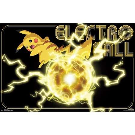 Pokemon Pikachu Electro Ball Poster thumb