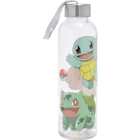 Pokemon Starters Glass Water Bottle thumb