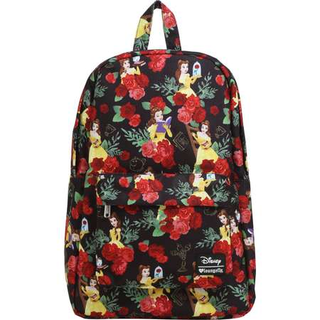 183b6769c7b Loungefly Disney Beauty And The Beast Belle Rose Print Backpack thumb
