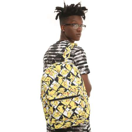 Pokemon Pikachu Checkered Backpack thumb
