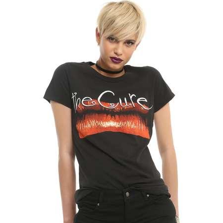 The Cure Kiss Me Kiss Me Kiss Me Girls T-Shirt thumb