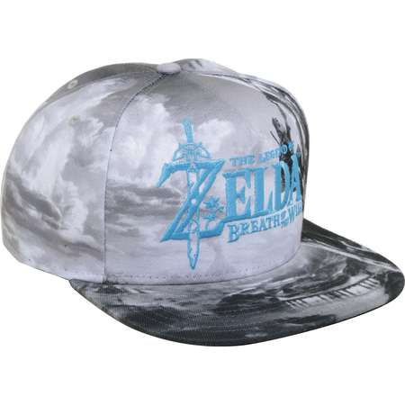 The Legend Of Zelda: Breath Of The Wild Black & White Sublimated Snapback Hat thumb