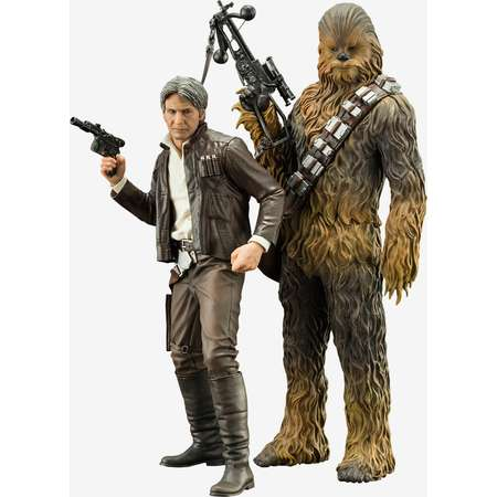 Star Wars: The Force Awakens Han Solo And Chewbacca ARTFX+ Statue Set thumb