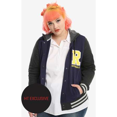 Riverdale Varsity Girls Jacket Plus Size Hot Topic Exclusive thumb
