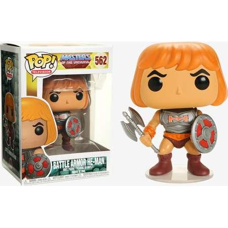 Funko Masters Of The Universe Pop! Television Battle Armor He-Man Vinyl Figure thumb