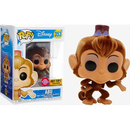 Funko Disney Aladdin Pop! Abu (Flocked) Vinyl Figure Hot Topic Exclusive thumb