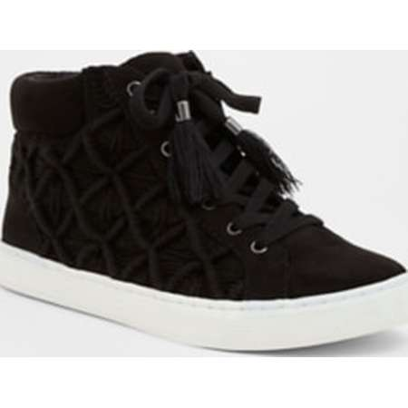 Black Crochet High Top Sneaker (Wide Width) thumb