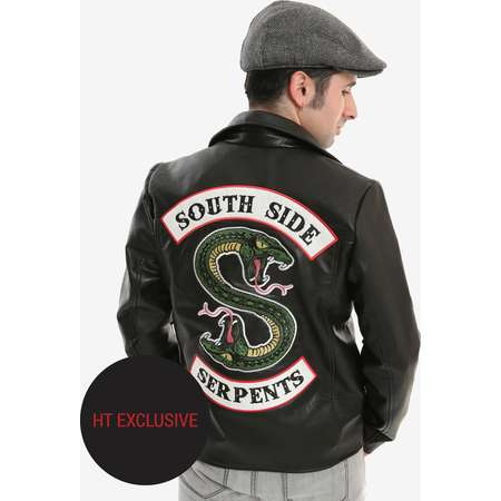 Riverdale Southside Serpents Faux Leather Jacket Hot Topic Exclusive thumb