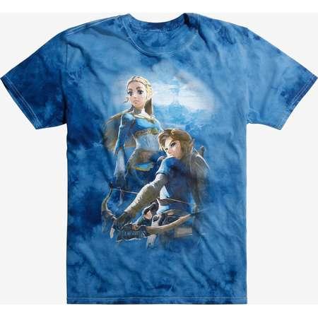 The Legend Of Zelda: Breath Of The Wild Link & Zelda Tie Dye T-Shirt thumb
