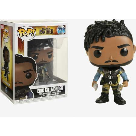 Funko Marvel Black Panther Pop! Erik Killmonger Vinyl Bobble-Head thumb