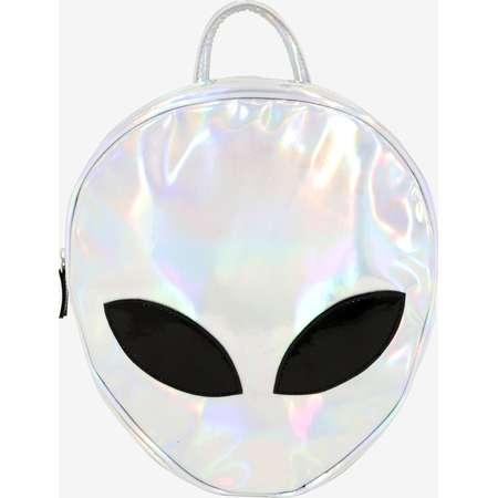 Iridescent Alien Head Backpack thumb