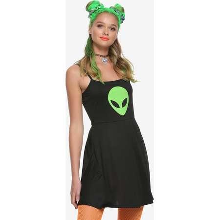 Alien Head Fit & Flare Dress thumb