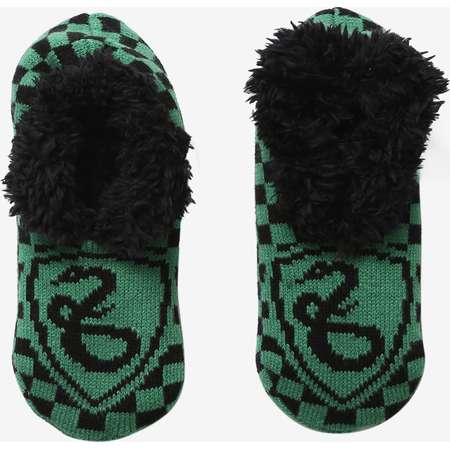 Harry Potter Slip-On Slytherin Cozy Slippers thumb