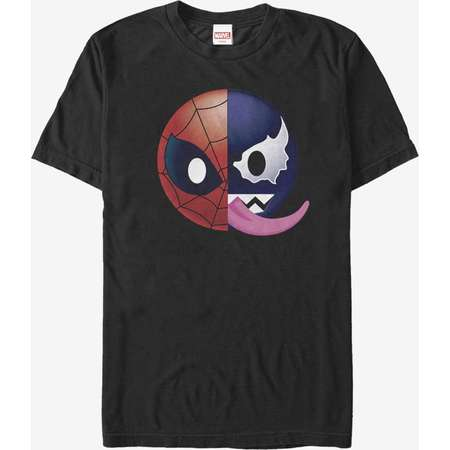 Marvel Venom Spider-Man Split Emoji T-Shirt thumb