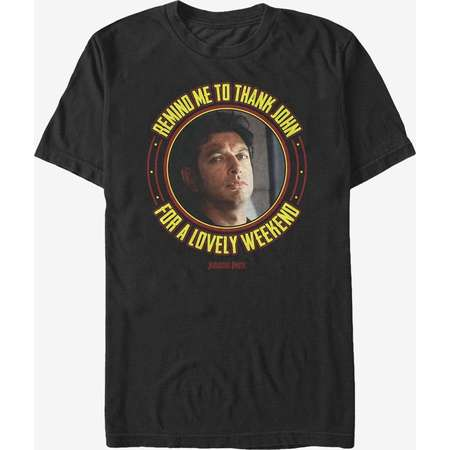 Jurassic Park Dr Malcolm Lovely Weekend T Shirt Thumb