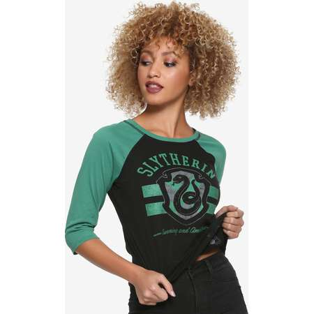 Harry Potter Slytherin Reversible Raglan Girls T-Shirt thumb
