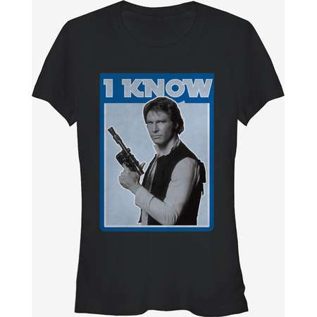 Star Wars Han Solo Quote I Know Girls T-Shirt thumb
