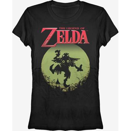 Nintendo Legend of Zelda Skull Kid in the Moon Girls T-Shirt thumb