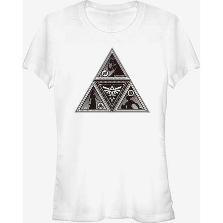Nintendo Legend of Zelda Triforce Silhouette Girls T-Shirt thumb