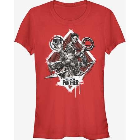 Marvel Black Panther 2018 Warrior Trio Girls T-Shirt thumb