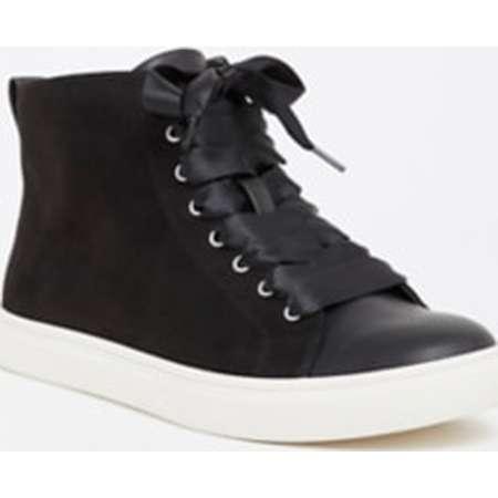 Black Ribbon High Top Sneaker (Wide Width) thumb