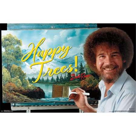 Bob Ross Happy Trees Horizontal Poster thumb