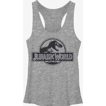 Jurassic Park Simple T. Rex Logo Girls Tanks thumb